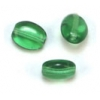 Glass Bead Flat/oval 6X8mm Lime Strung